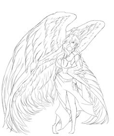 Angel lineart  #art #lineart #angel #wings