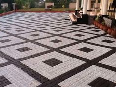 "Exceptional ""patio pavers diy"" info is available on our internet site. Check it out and you wont be sorry you did. Porch Tile, Patio Tiles, Outdoor Tiles, Driveway Tiles, Driveway Design, Walkway, Concrete Patio Designs, Paver Designs, Outside Flooring"