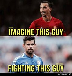 Who's your money on? Plenty of scrapping in this one. Football Fight, Funny Football Memes, Fifa, Baseball Cards, Guys, Munich, Costa, Sports, Money