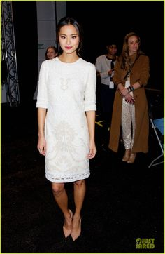 Jamie Chung attending the Monique Lhuillier Fashion Show during Mercedes-Benz Fashion Week Fall 2014 held at The Theatre at Lincoln Center on Saturday (February 8) in New York City.