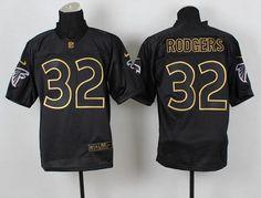 Nike Atlanta Falcons #32 Jacquizz Rodgers 2014 All Black/Gold Elite Jersey