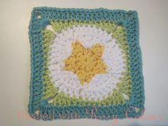 Flushed with Rosy Colour: Star Granny Square - free crochet pattern.