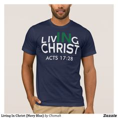 Living In Christ (Navy Blue)