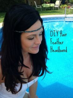DIY feather head band