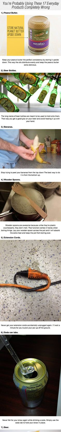 Funny pictures about Everyday Products You're Using Wrong. Oh, and cool pics about Everyday Products You're Using Wrong. Also, Everyday Products You're Using Wrong photos. Things To Know, Cool Things To Make, Good Things, Home Fix, Making Life Easier, Useful Life Hacks, Smart People, Cool Items, Weird But True