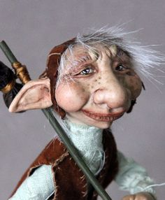Oscar the Troll art doll by elenaoriginals. $175.00 >> I love this little guy!