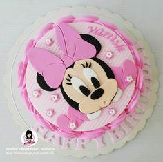 Baby minnie design fresh cream cake