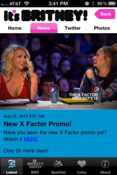 New X Factor promo in the It's Britney! App - have you seen it? Click through to purchase the App!