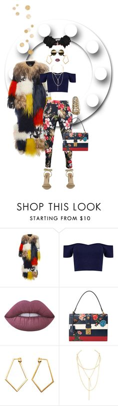 """""""Self Made"""" by foreverfreshie ❤ liked on Polyvore featuring MSGM, Boohoo, Lime Crime, Gucci, Dutch Basics and Jules Smith"""