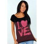 SOLDE t-shirt noir et fluo imprimé LOVE 12,59 €  http://www.princesseboutique.com/326-tops-t-shirts