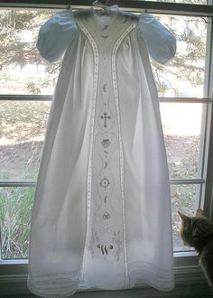 Embroidered Christening Gown. Adaptation of SHS heirloom pattern.