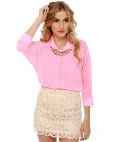 Afternoon Moon Cream Lace Mini Skirt $37