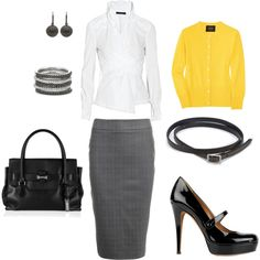 Very professional, pop of color - could work for companies with business casual attire or agencies.