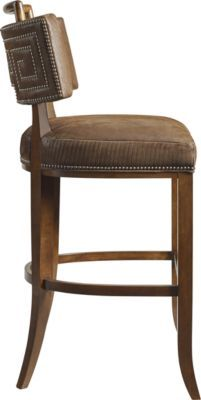 Saint Giorgio Bar Stool (With Handle) from the David Phoenix collection by Hickory Chair Furniture Co. Counter Stools, Bar Stools, Hickory Chair, Vanity Bench, Phoenix, Las Vegas, House Ideas, David, Handle