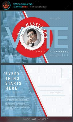 Vote Political Flyer Mailer Template - Corporate Flyers                                                                                                                                                                                 More