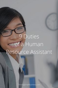 Successful businesses grow, often requiring the need of the HR function. The duties of a human resource assistant can keep things running smoothly. Human Resources Quotes, Human Resources Career, Small Business Management, Time Management Tips, Resource Management, Security Finance, Research Assistant, Job Interview Questions, Employee Engagement