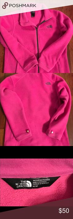 North Face Jacket This is a Size M Women's North Face Fleece Jacket. Excellent condition and has been well taken care of, no rips, tears or stains. North Face Jackets & Coats