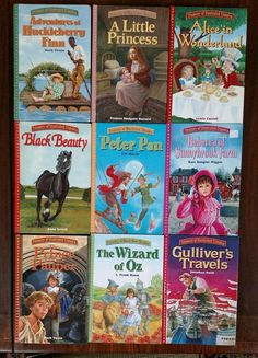 Lot 9 Treasury ILLUSTRATED CLASSICS Hardcover Series Set Books Instant Library