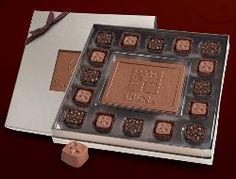 Custom Chocolate Candy Bar w/ 16 Truffles in Window Box