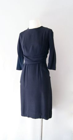 60s Alper Schwartz black rayon dress   http://www.etsy.com/listing/98552681/50s-60s-dress-black-rayon-cocktail-dress