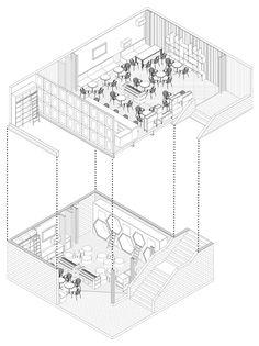 Interior Design For Living Room Cafe Floor Plan, Restaurant Floor Plan, Restaurant Concept, Restaurant Design, Interior Design Presentation, Architecture Presentation Board, Interior Design Boards, Interior Doors, Interior Sketch