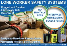 Lone Worker Half Page Ad. Many designs were created, only a handful of these will be used in various industrial and safety magazines for 2015.