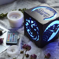 Game of Thrones gift Led lamp Game of thrones house Game of thrones home decor Game of thrones kitchen house Targaryen winter is coming Game Of Thrones Gifts, Game Of Thrones Houses, Game Of Thrones Art, Game Of Thrones Bedroom, Bedroom Night Light, Deco Led, House Games, Wooden Textures, Diy Games