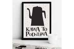 PLAKAT TYPOGRAFICZNY KAWA COFFE POSTER A4