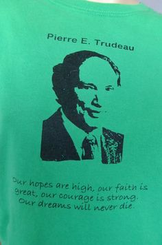 Pierre Trudeau shirt, Prime Minister Trudeau, Candian Prime Minister,  70s / 80s politics, Liberal by vintage2049 on Etsy