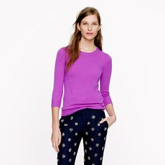 Love this color...and it's the softest sweater. Collection cashmere Tippi sweater