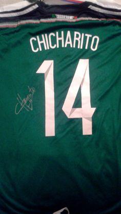 Chicharito Autographed Mexico 2014 Home Soccer Jersey Soccer World 624432e29