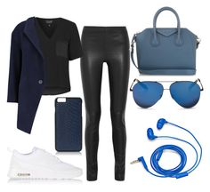 """Street style "" by denitsaa on Polyvore featuring Joseph, Topshop, Mason by Michelle Mason, NIKE, GiGi New York, Givenchy, Victoria Beckham, FOSSIL, women's clothing and women"