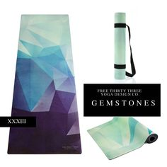 Yoga Mats Made Functional and Beautiful by Free Thirty Three Yoga Design Co. GEMSTONES Yoga Mat