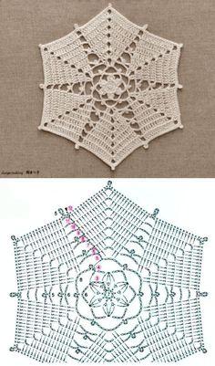Crochet Circles, Crochet Mandala, Crochet Squares, Crochet Motif, Crochet Doilies, Granny Squares, Crochet Flower Patterns, Crochet Stitches Patterns, Doily Patterns