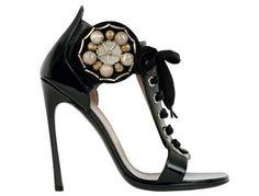 Yves Saint Laurent Black Patent Sandal, £465.00