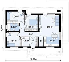 Z191 Проект небольшого одноуровневого частного дома S3-100