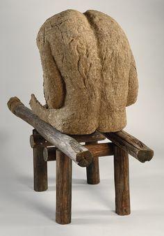 Magdalena Abakanowicz (Polish, born 1930), Androgyn III, 1985  Burlap, resin, wood, nails, string