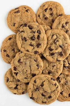 The BEST vegan chocolate chip cookies! They are crispy on the outside yet soft, chewy & gooey on the inside. Loaded with chocolate chips! Best Vegan Chocolate, Vegan Chocolate Chip Cookies, Chocolate Chip Recipes, Melted Chocolate, Chocolate Chips, Cookie Flavors, Easy Cookie Recipes, Dessert Recipes, Easy Recipes
