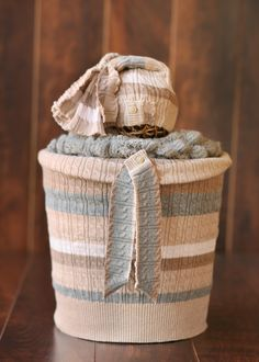 Newborn Photography Upcycle Sweater Bucket Set $55 FREE shipping within the U.S. www.facebook.com/upcycledphotoprops