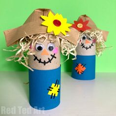 Easy Toilet Paper Roll Scarecrow for Preschool – Red Ted Art Easy Toilet Paper Roll Scarecrow for Preschool. Adorable Toilet Paper Roll Scarecrow for Harvest Festival celebrations. No Mess. Easy Toddler Crafts, Easy Fall Crafts, Fall Crafts For Kids, Paper Crafts For Kids, Thanksgiving Crafts, Fun Crafts, Projects For Kids, Harvest Crafts For Kids, Harvest Festival Crafts