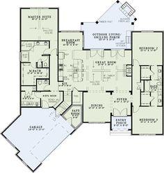 house plan 207-00031 - contemporary plan: 3,591 square feet, 4