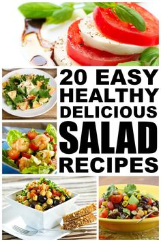 If you're looking for healthy recipes to help with your weight loss goals, this collection of healthy salad recipes is for you! These salads make for great dinner ideas as they are easy to make and substantial enough that they won't leave you feeling hungry for the rest of the night. Enjoy!