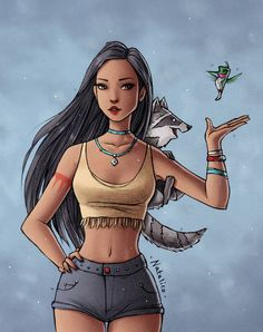 Drawing ideas disney characters pocahontas New Ideas Disney Pocahontas, Princess Pocahontas, Disney Princess Fashion, Disney Princess Pictures, Disney Princess Drawings, Disney Princess Art, Disney Fan Art, Disney Girls, Disney Drawings