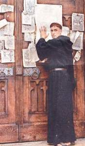 "In 1518, Martin Luther wrote his 95 Theses. The Reformation had begun. He saw Jews as a rejected people guilty of the murder of Christ. When his efforts to convert them failed, he wrote ""On the Jews and their Lies"" encouraging the destruction of synagogues, Jewish homes, enslaving Jews, expelling Jews and inciting the murder of Jews: ""We ought to take revenge on the Jews and kill them."" Hitler expressed a great admiration for Martin Luther, often quoting his works and beliefs."