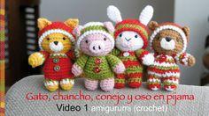 ¡Esperando la Navidad! Con las mismas piezas principales podemos hacer 4 animalitos: oso, gato, chancho y conejo! Solo cambian las orejas y colas :) En este ...