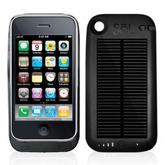 Solar panel charger/ iPhone 4 case. Never run out of battery if you've got the sun around!
