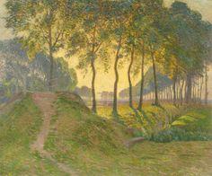 「運河沿いの楡の木」1904年 個人蔵