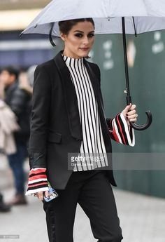 Olivia Palermo is seen outside the Tibi show during New York Fashion Week: Women's A/W 2018 on February 11, 2018 in New York City.