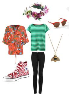 """""""Strawberries and cream"""" by pippahoel on Polyvore featuring Topshop, Rock 'N Rose and Boden"""