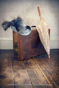 © Lee Avison / Trevillion Images - hat-suitcase-and-parasol